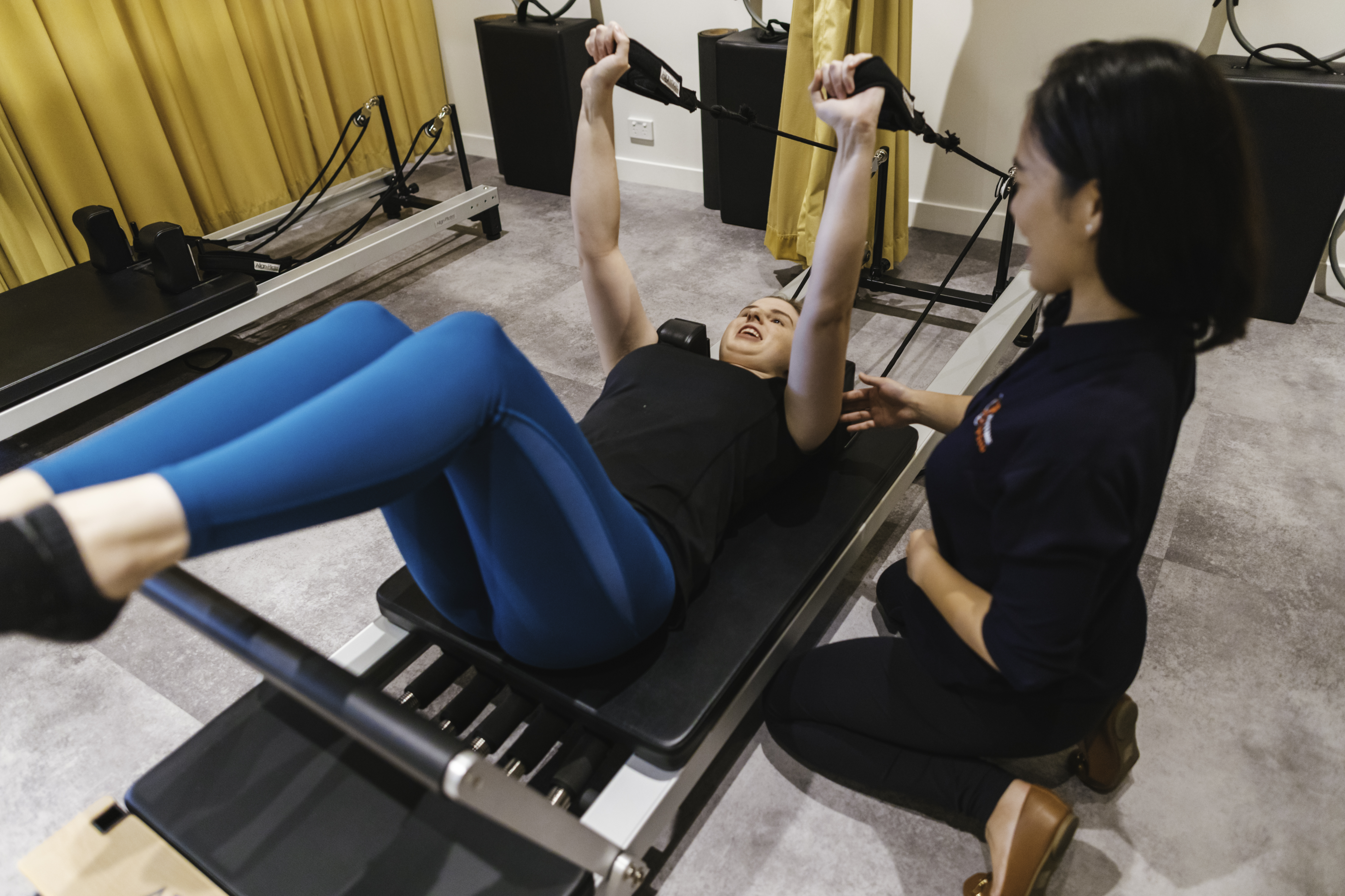 clinical pilates session