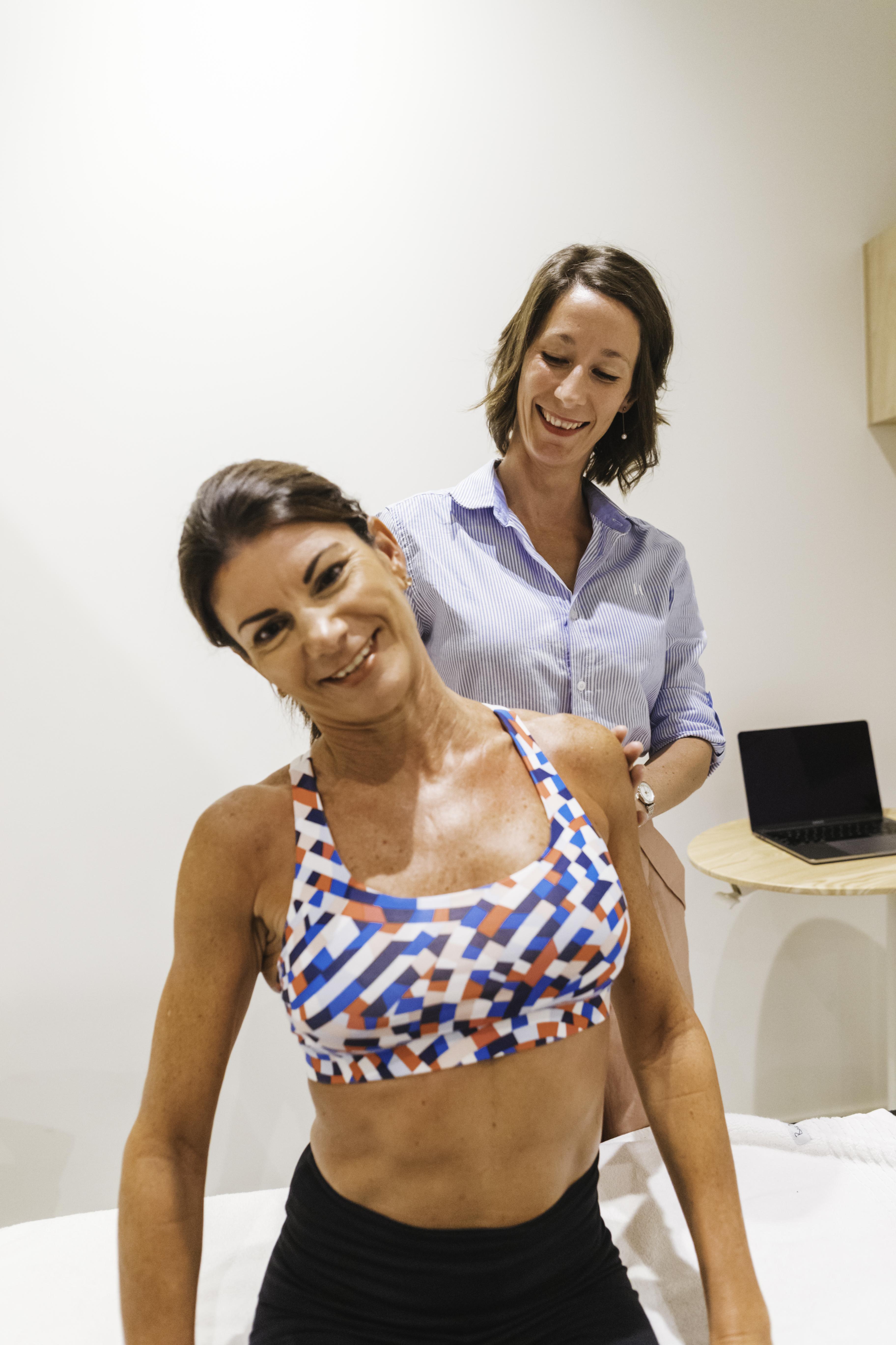 female physio and female in Brisbane